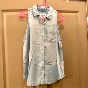 Mossimo Chambray Top - Large